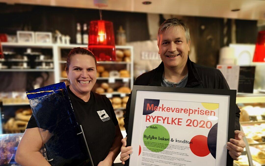 Merkevareprisen 2020 til Ryfylke bakeri og konditori